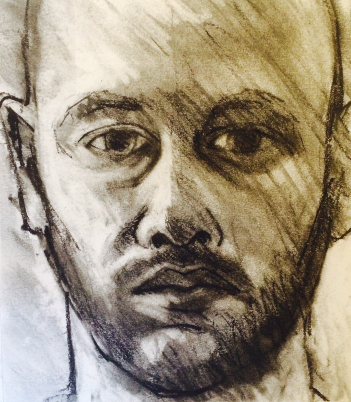 Charcoal Self Portrait 2014