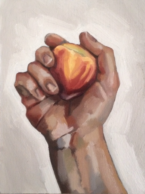 Holding a Peach 2015