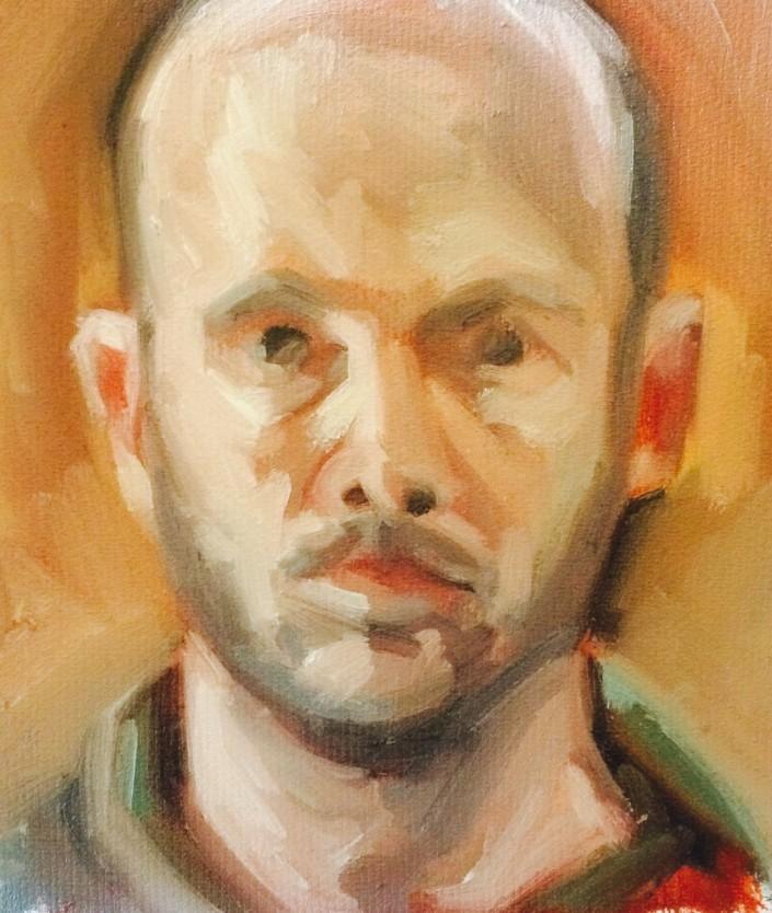 Self Portrait Oil Sketch 2014