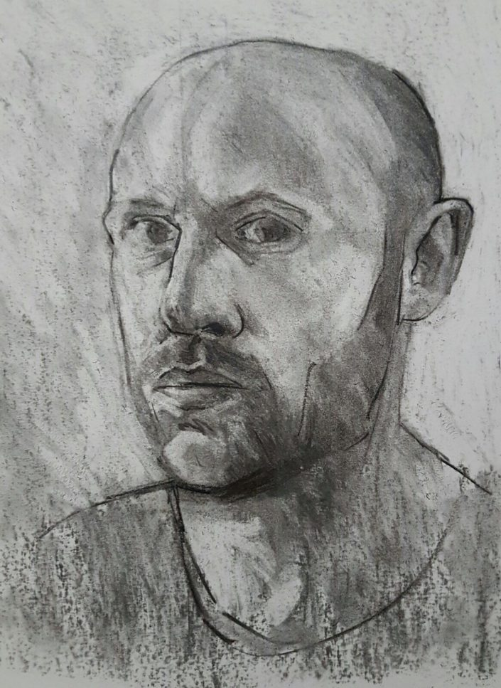 Self-portrait charcoal study 2017