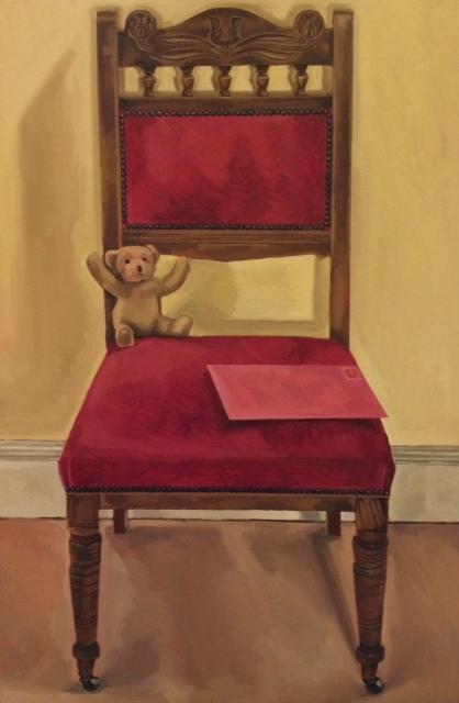 Teddy on chair 2014