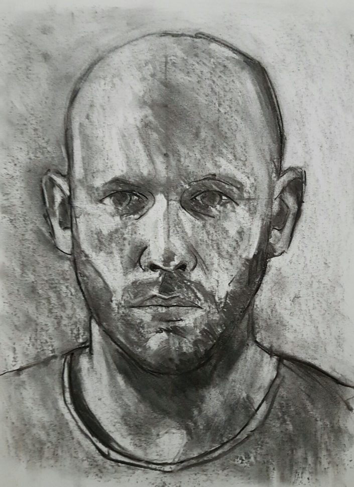Self-portrait charcoal study_2 2017