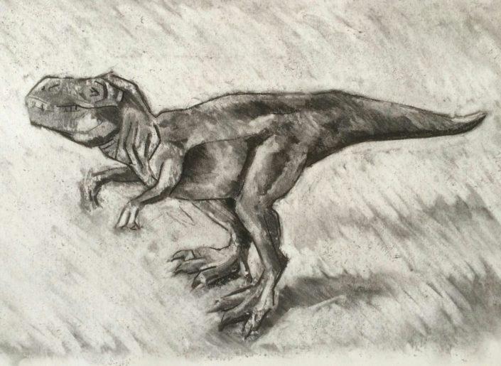 T-rex, charcoal 2016