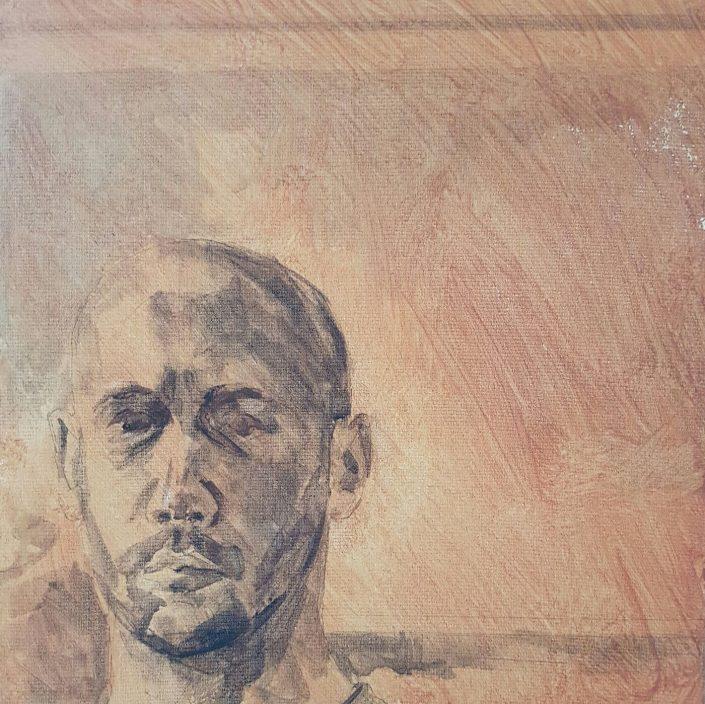Self-portrait tonal painting 2016