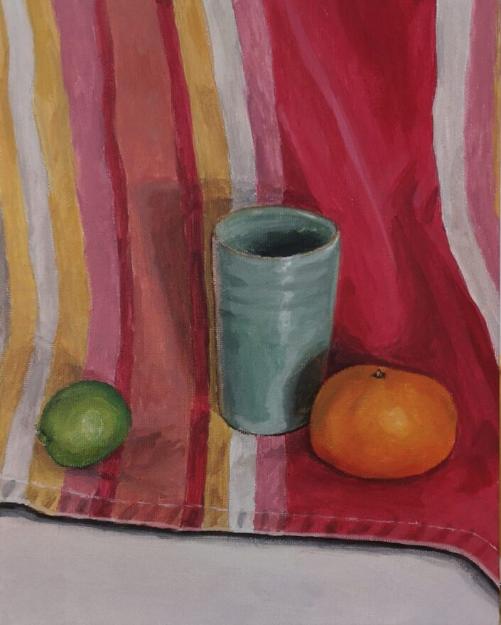 Still life with stripes II